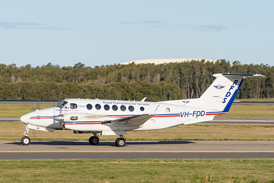 _A732136 - Royal Flying Doctor Service Beech B300C King Air VH-FDD taxiies after arriving from Toowoomba Wellcamp (YBWW).
