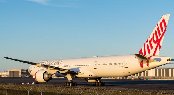 _A732181 - Virgin Australia Boeing 777-3ZG(ER) VH-VPF parked in short-term storage at logistics apron.