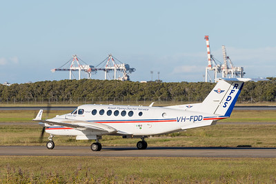 _A732140 - Royal Flying Doctor Service Beech B300C King Air VH-FDD taxiies after arriving from Toowoomba Wellcamp (YBWW).