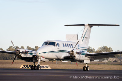 MMPI_20200801_MMPI0063_0004 -  Beech Super King Air B200 VH-WJK parked on the tarmac.