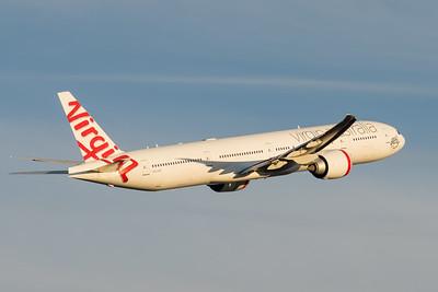 MMPI_20200808_MMPI0063_0016 - Virgin Australia Boeing 777-3ZG(ER) VH-VPD as flight VA9017 takes off from Brisbane (YBBN) en route to Los Angeles (KLAX).