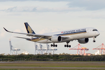 _7R40298 - Singapore Airlines Airbus A350-941 9V-SHL as flight SQ265 on approach to Brisbane (YBBN) ex Singapore (WSSS).