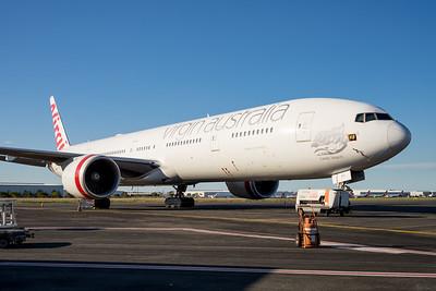 MMPI_20201101_MMPI0063_0001 - Virgin Australia Boeing 777-3ZG(ER) VH-VPF parked on logistics apron.