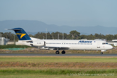 MMPI_20201126_MMPI0063_0009 - Alliance Fokker F100 VH-UQA as flight QQ2822 takes off from Brisbane (YBBN) en route for Emerald (YEML).