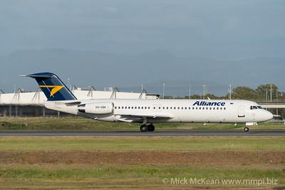 MMPI_20201126_MMPI0063_0010 - Alliance Fokker F100 VH-UQA as flight QQ2822 takes off from Brisbane (YBBN) en route for Emerald (YEML).