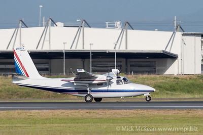 MMPI_20201126_MMPI0063_0003 - General Aviation Maintenance Aero Commander 500S Shrike Commander VH-MEH takes off from Brisbane (YBBN) en route for Maryborough  (YMYB).