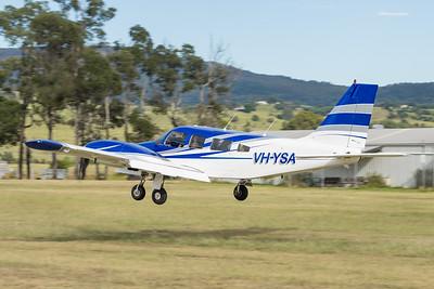 MMPI_20210220_MMPI0079_0055 -  Piper PA-34-220T Seneca VH-YSA landing at the Airsport Qld breakfast fly-in.