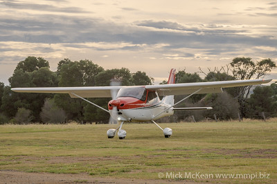 MMPI_20210220_MMPI0079_0006 -  Tecnam P2008 VH-UZI taxiing at the Airsport Qld breakfast fly-in.