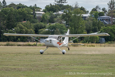 MMPI_20210220_MMPI0079_0178 -  Glasair GlaStar GS-1 VH-MEV takes off at the Airsport Qld breakfast fly-in.