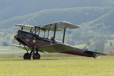 "MMPI_20210418_MMPI0083_0025 -  De Havilland DH.60M Metal Moth VH-UMK ""Golden Quest"" taxiing at Watts for Breakfast fly-in April 2021."