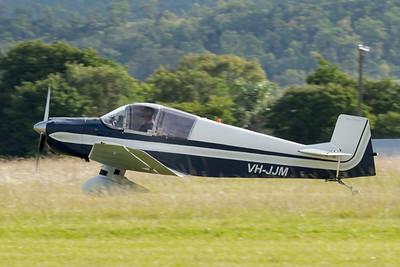 MMPI_20210418_MMPI0083_0015 -  Jodel DR.1050 VH-JJM landing at Watts for Breakfast fly-in April 2021.