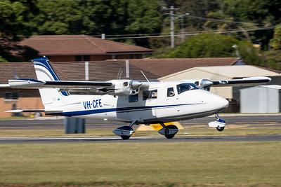 MMPI_20210425_MMPI0078_0035 - Aerometrex Vulcanair P68C VH-CFE takes off.