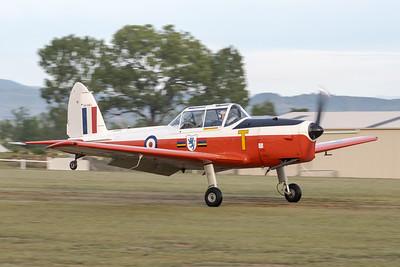 MMPI_20210509_MMPI0081_0024 -  De Havilland Canada DHC-1 Mk 22 Chipmunk VH-SSJ landing at the Gatton Airpark Mother's Day fly-in.