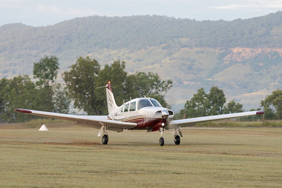MMPI_20210509_MMPI0081_0015 -  Piper PA-28R-201T Turbo Arrow III VH-RMW landing at the Gatton Airpark Mother's Day fly-in.