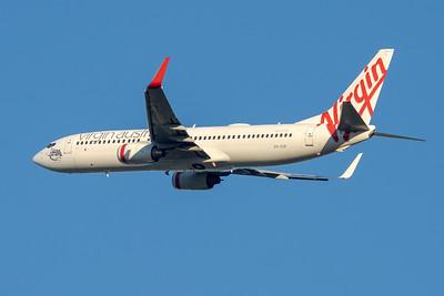 """MMPI_20210520_MMPI0078_0001 - Virgin Australia Boeing 737-8FE VH-VUP """"Lighthouse Beach"""" takes off from Brisbane (YBBN)."""