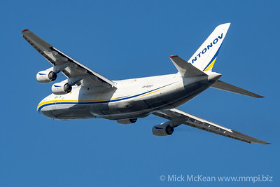 MMPI_20210520_MMPI0078_0026 - Antonov Design Bureau Antonov An-124-100M UR-82027 Ruslan takes off from Brisbane (YBBN) en route to Honolulu (PHNL). The aircraft was transporting two ex-RAAF F/A-18A Hornet fighters bound for RCAF service.