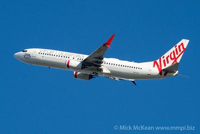 "MMPI_20210520_MMPI0078_0015 - Virgin Australia Boeing 737-8FE VH-YIV ""Cylinder Beach"" takes off from Brisbane (YBBN)."