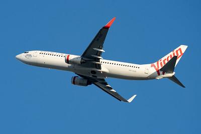 """MMPI_20210520_MMPI0078_0003 - Virgin Australia Boeing 737-8FE VH-VUG """"Jasmine Tasman"""" takes off from Brisbane (YBBN)."""