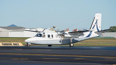 MMPI_20210704_MMPI0078_0006 -  Aero Commander 690B 5Y-FWI   YJ-OO1 parked at Archerfield Airport (YBAF).