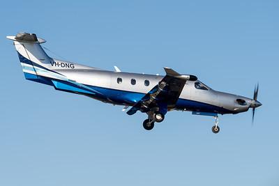 MMPI_20210704_MMPI0078_0004 -  Pilatus PC-12/47 VH-DNG on approach to Archerfield Airport (YBAF).