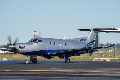 MMPI_20210704_MMPI0078_0011 -  Pilatus PC-12/47 VH-DNG taxiing at Archerfield Airport (YBAF).
