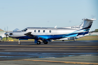 MMPI_20210704_MMPI0078_0013 -  Pilatus PC-12/47 VH-DNG taxiing at Archerfield Airport (YBAF).