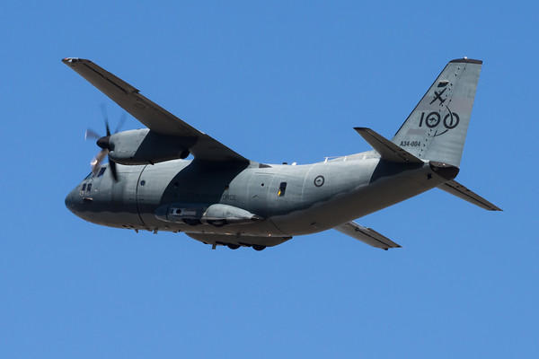 _7R49493 - Royal Australian Air Force Alenia C-27J Spartan A34-004 takes off from RAAF Amberley (YAMB) for local circuit training.
