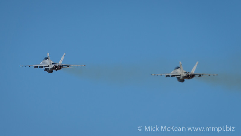 _A739231 - Royal Australian Air Force Boeing F/A-18F Super Hornet A44-215 and A44-208 tandem take off from RAAF Amberley (YAMB) on a mission as part of exercise Talisman Sabre 2021.