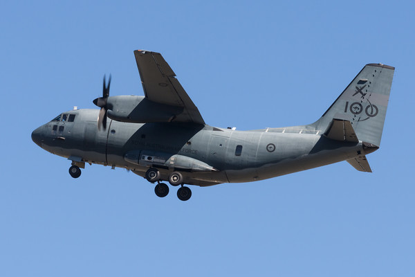 _7R49553 - Royal Australian Air Force Alenia C-27J Spartan A34-004 performing a missed approach at RAAF Amberley (YAMB) for local circuit training.
