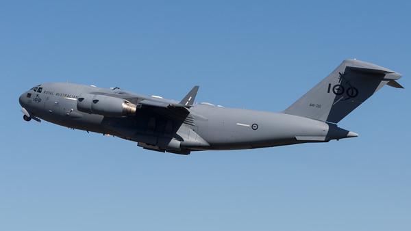 _7R49507 - Royal Australian Air Force Boeing C-17A Globemaster III A41-210 takes off from RAAF Amberley (YAMB).
