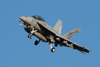 MMPI_20210724_MMPI0085_0020 - Royal Australian Air Force Boeing F/A-18F Super Hornet A44-203 banking on short final to RAAF Amberley (YAMB) after a mission as part of exercise Talisman Sabre 2021.