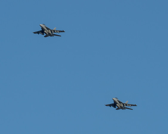 MMPI_20210724_MMPI0085_0013 - Royal Australian Air Force Boeing F/A-18F Super Hornet A44-206 and A44-220 returning to RAAF Amberley (YAMB) after a mission as part of exercise Talisman Sabre 2021.