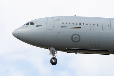 MMPI_20210913_MMPI0078_0009 - Royal Australian Air Force Airbus KC-30A MRTT A39-007 nose detail on approach to RAAF Amberley (YAMB).