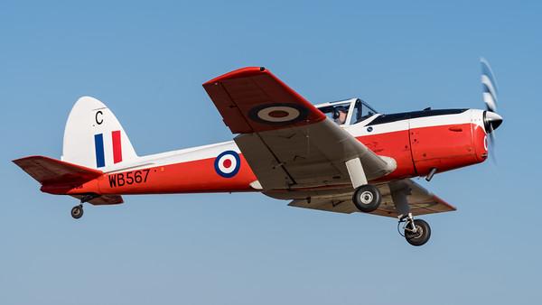MMPI_20210919_MMPI0078_0004 -  De Havilland Canada DHC-1 T.10 Chipmunk VH-JHN takes off from Gatton Airpark (YGAS).