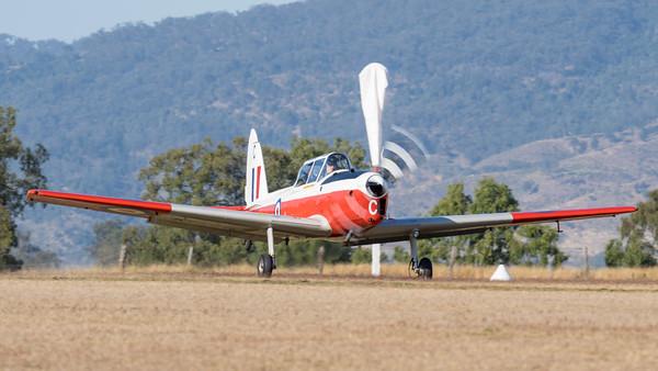 MMPI_20210919_MMPI0078_0003 -  De Havilland Canada DHC-1 T.10 Chipmunk VH-JHN takes off from Gatton Airpark (YGAS).