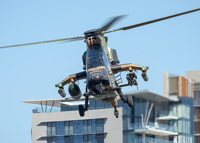 MMPI_20210923_MMPI0078_0024 - Australian Army Eurocopter Tiger ARH A38-002 performing its flying display practice for Brisbane Festival Riverfire 2021.