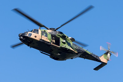 MMPI_20210923_MMPI0078_0014 - Australian Army NHIndustries MRH-90 Taipan A40-027 performing its flying display practice for Brisbane Festival Riverfire 2021.