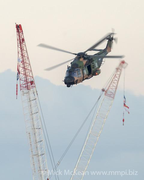 _A730183 - Australian Army NHIndustries MRH-90 Taipan A40-036 performing its display at Brisbane Riverfire 2021 event.