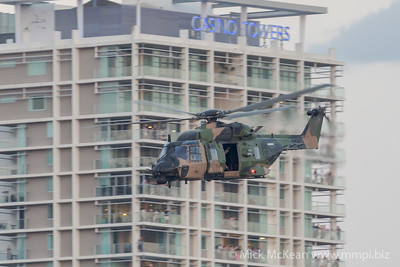 _A730190 - Australian Army NHIndustries MRH-90 Taipan A40-036 performing its display at Brisbane Riverfire 2021 event.
