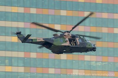 _A730093 - Australian Army NHIndustries MRH-90 Taipan A40-027 performing its display at Brisbane Riverfire 2021 event.