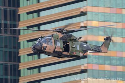 _A730206 - Australian Army NHIndustries MRH-90 Taipan A40-036 performing its display at Brisbane Riverfire 2021 event.