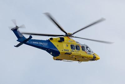 MMPI_20200808_MMPI0063_0015 - RACQ Lifeflight AgustaWestland AW139 VH-XIR as RSCU533 takes off from Brisbane (YBBN) en route for Dalby (YDAY).