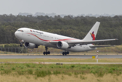MMPI_20210403_MMPI0078_0001 - Air Niugini Boeing 767-341(ER) P2-PXV as flight PX4 takes off from Brisbane (YBBN) en route for Port Moresby (AYPY).