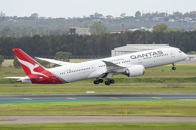 MMPI_20210403_MMPI0078_0013 - Qantas Boeing 787-9 Dreamliner VH-ZNF as flight QF15 takes off from brisbane (YBBN) en route for Los Angelese (KLAX).