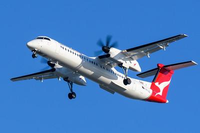 "MMPI_20200322_MMPI0063_0022 - QantasLink Bombardier Q400 VH-LQL ""Jindabyne"" as flight QF2407 on approach to Brisbane Airport (YBBN) ex Emerald (YEML) on 22Mar2020."