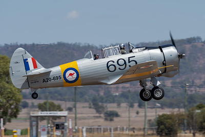 MMPI_20201016_MMPI0075_0031 -  CAC CA-16 Wirraway VH-MFW takes off at Red Thunder TFC 2020.