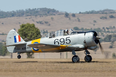 MMPI_20201016_MMPI0075_0014 -  CAC CA-16 Wirraway VH-MFW takes off at Red Thunder TFC 2020.