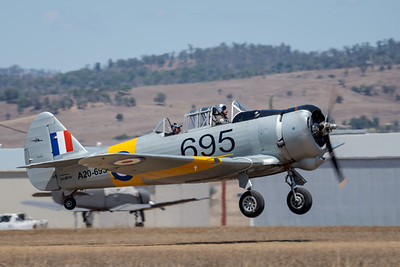 MMPI_20201016_MMPI0075_0030 -  CAC CA-16 Wirraway VH-MFW takes off at Red Thunder TFC 2020.