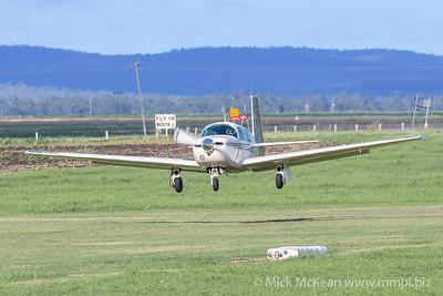 MMPI_20200308_MMPI0065_0032 -  Mooney M20J VH-MVO landing at 2020 Clifton fly-in.