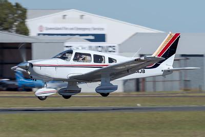 MMPI_20210516_MMPI0082_0079 -  Piper PA-28-236 Dakota VH-AJB takes off at David Hack Classic 2021 fly-in event.
